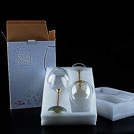 Juego de 2 copas de vino de cristal-550ml copa de vino de cristal sin plomo-cata profesional-Borgoña-Pinot Noir-Bordeaux