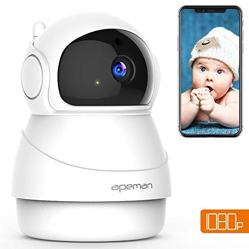 APEMAN WiFi Camera 1080P Indoor Home Security Camera Wireless IP Camera Pet/Baby Monitor Night Vision Motion Detection 2-Way Audio Pan/Tilt/Zoom - Ptz Camera Control