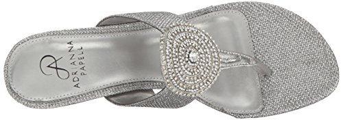 Wedge Adrianna Sandal Casey Women Antique Silver Papell 88gn7Z