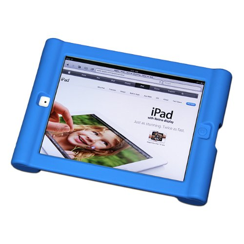 Maximal Power Shock Impact Proof Silicone Cover for Apple iPad 2, 3rd, 4th Generation Case, Blue (POU IPAD/BL) by MaximalPower