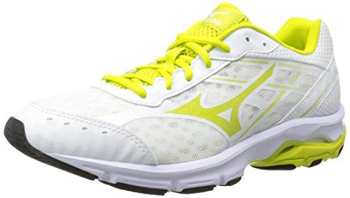 Mizuno Usa Mens Women's Wave Unite 2 WH OPT Running Shoe, White Optic/Sulphur, 7.5 M US
