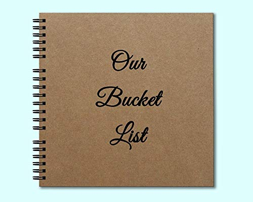 (Our Bucket List - Hardcover Journal- Heavyweight Chipboard- Personalized for you on the back cover!)