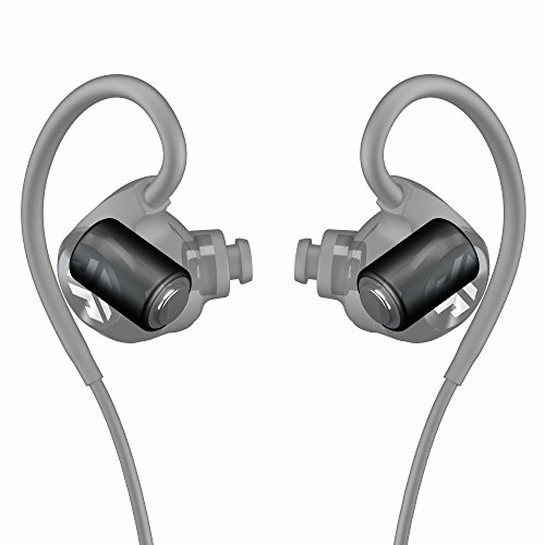JLab Audio Epic2 Bluetooth 4.0 Wireless Sport Earbuds, GUARANTEED fitness, waterproof IPX5 rated, skip-free sound, pristine high-performance 8mm sound drivers, 12hr play time w/ microphone - Black