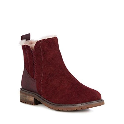 EMU Australia Pioneer Womens Deluxe Wool Waterproof Boots in Claret