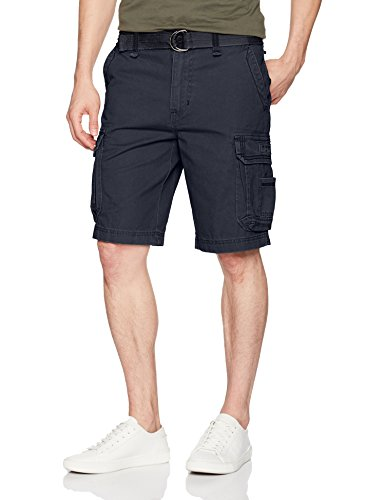 Unionbay Men's Survivor Belted Cargo Short, True Navy, 36 ()