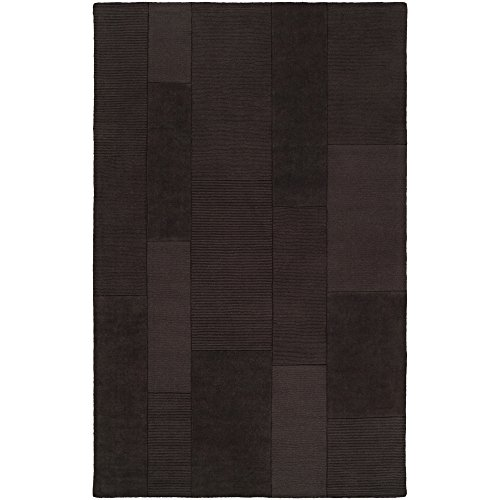 Surya Bristol BRT-2928 Transitional Hand Loomed 100 Wool Espresso 5 x 8 Patchwork Area Rug