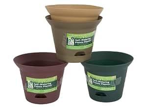 Producto nuevo mediano redondo de plástico maceta Tub autoadhesivas WEatering