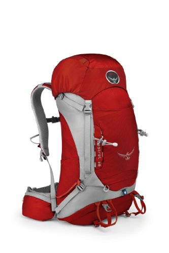 Osprey Packs Kestrel 38 Backpack (Fire Red, Medium/Large), Outdoor Stuffs