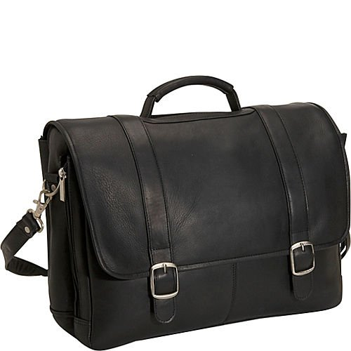 David King & Co. Porthole Laptop Briefcase, Black, One Size ()