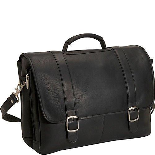 (David King & Co. Porthole Laptop Briefcase, Black, One Size)