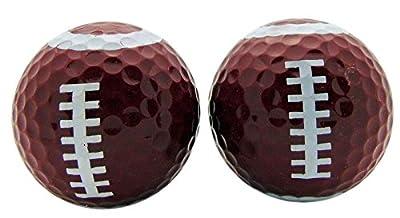 Football Style Set of 2 Novelty Golf Ball Fun Golfing Gag Gift for Golfer