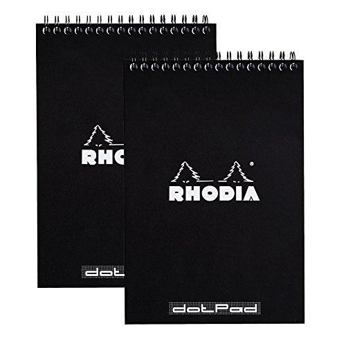Rhodia Wire - Rhodia Wirebound Pad 6X8.25 Black Dot Pack of 2