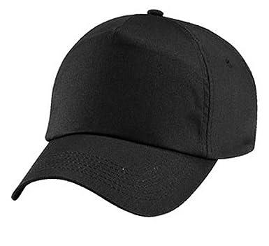 Black baseball caps 5 panel caps  Amazon.co.uk  Clothing 5dec5d24f5f