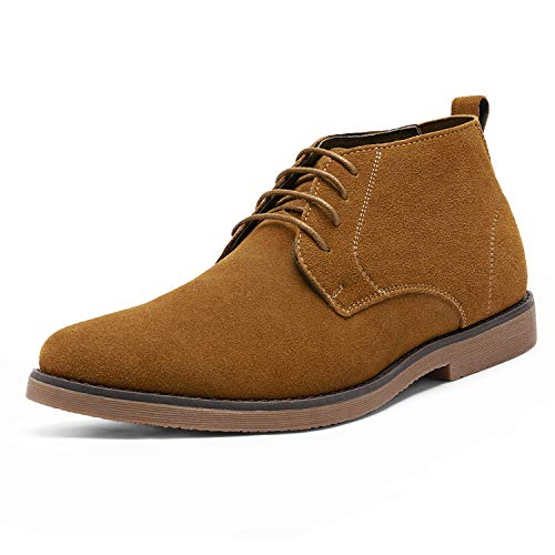 Bruno Marc Men's Chukka Camel Suede Leather Chukka Desert Oxford Ankle Boots – 12 M US
