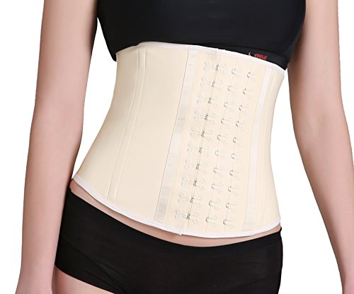 Ann Darling Women's Latex Sport Girdle Curve Waist Training Corset For Postpartum Women Beige X-Large