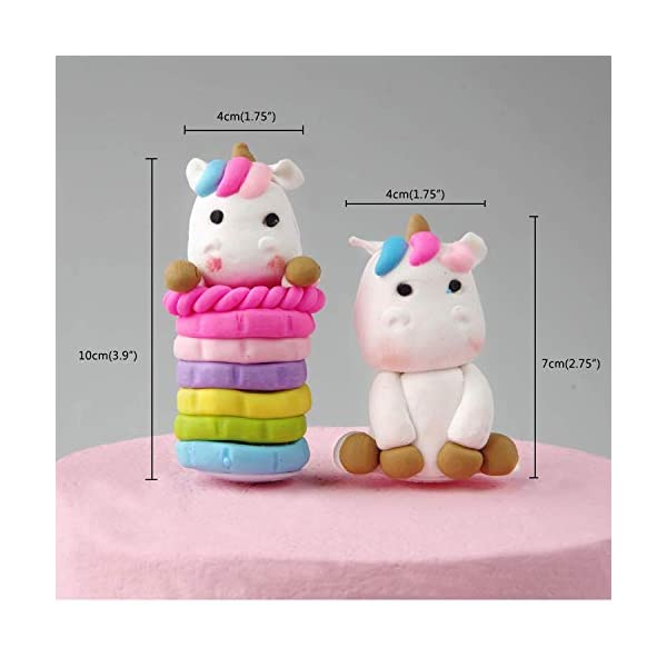 Cloud Rainbow And Unicorn Cake Toppers Kit (Set of 7) Kids Girls Birthday Cake Decoration Baby Shower Party Cake… 7