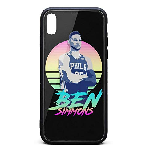 3D Phone Cases for iPhone X,Xs,Xs Max Non-Slip Shockproof Ultra Slim Stylish Transparent Tempered Glass Back Covers Durable PC TPU Hybrid Protective Shockproof Glossy ()