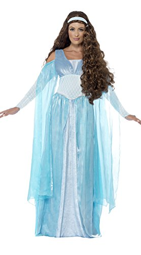 Smiffy's Women's Medieval Maiden Deluxe Costume, Dress and Headpiece, Tales of Old England, Serious Fun, Size 10-12, 27878