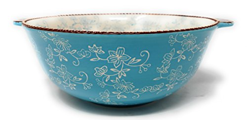 (Temp-tations Mixing or Serving Bowl 4 Qt Replacement (Floral Lace Light Blue))