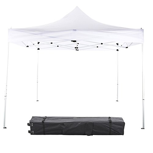 GREARDEN 10x10 Ft Aluminum Pop Up Outdoor Canopy Tent For Event Party Heavy Duty Commercial Outdoor Portable Instant Tent Shelter White