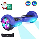 CBD Hoverboard Self Balancing Scooter Hover Board Electric Scooter with UL 2272 Certified,LED Frontlights,Wireless Speaker,Colorful LED Side Lights,Free Carry Bag,6.5' Flashing Wheel