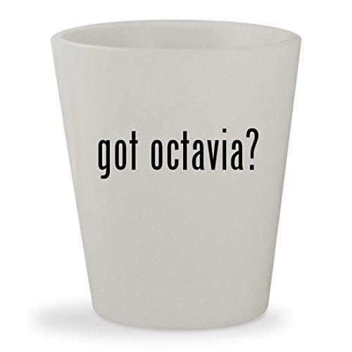 got octavia? - White Ceramic 1.5oz Shot Glass