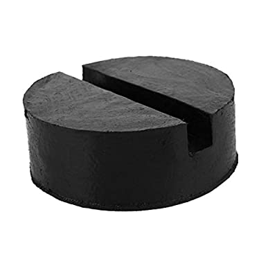 Leaftree - Jacking Pad Jack Pad Jack Stand Jacking Pad Adapter Durable Universal Rubber Black Automobile Frame Rail