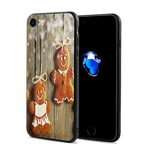 - iPhone 8 Case iPhone 7 Case with Christmas Homemade Gingerbread Couple Cookies Print