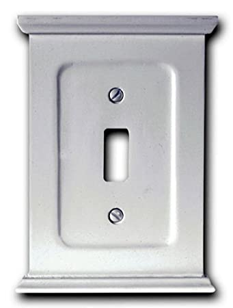 amerelle 178tw mantel toggle wallplate white