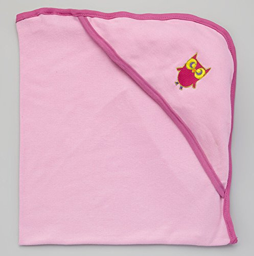 Bambino Land Hooded Blanket - Lilac & Rosebud Trim ()
