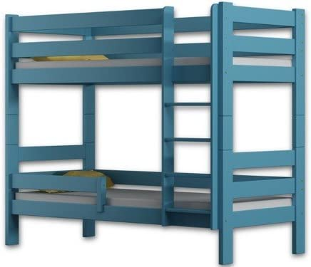 Litera doble Sophie con estructura de madera de pino (180 x 80 cm), madera, azul, 180x80