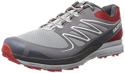 Salomon Men's Sense Mantra 2 Running Shoe,Quick/Pearl Grey/Asphalt,11 M US