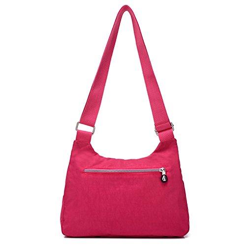 Women Red Foino Messenger Body Travel Sport Cross Lightweight Shoulder Bag 2 Side Waterproof Casual For OtqWwrtp