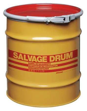 Salvage Drum, Open Head, 20 gal., Yellow