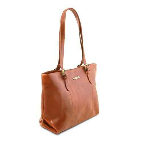 Annalisa shopping Borsa in due Miele Miele manici Tuscany con pelle Leather ASTP5aqxw