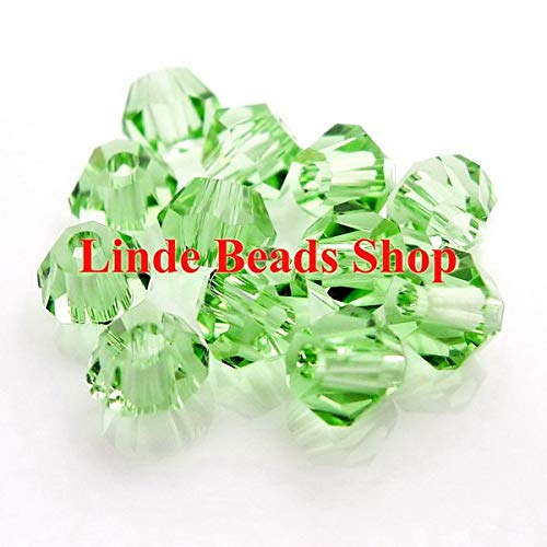 (Pukido 4mm AAA Crystal 5301 bicone Beads 1440pcs/lot BICONE0401 - (Color: Chrysolite) )