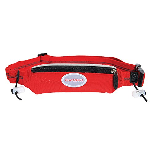 FuelBelt Helium Super Stretch Race Waistpack, Black/Rush Red