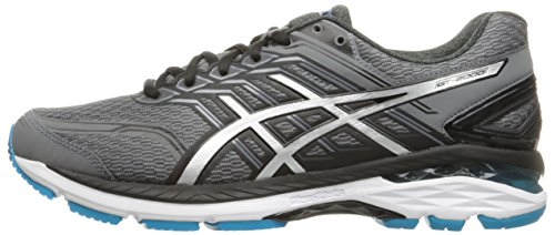 c2334deadf ASICS Men's GT-2000 5 Running Shoe, Carbon/Silver/Island Blue ...