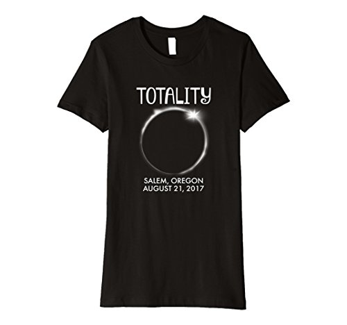 Womens Salem Oregon Total Solar Eclipse 2017 T Shirt Large Black