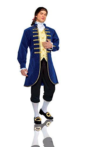 Mens Colonial Costume (Costume Culture Men's Aristocrat Costume Extra Large, Blue, X-Large)