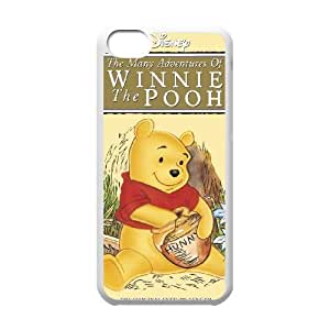 iPhone 5c Cell Phone Case Covers White Many Adventures of Winnie the Pooh NTUHEPB12321 Durable Customized Cell Phone Case