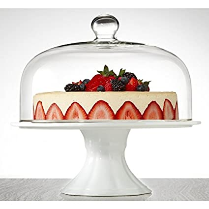 Brilliant - Bianco Extra Large Pedestal Cake Plate and Dome 33cm  sc 1 st  Amazon.com & Amazon.com | Brilliant - Bianco Extra Large Pedestal Cake Plate ...