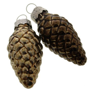 Spruce Pinecone Glass Ornament - Assorted- Sold in Case Pack of 20