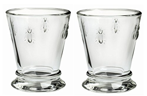 Used, La Rochere Set of 2 Bee Glass Tumbler Goblet, 270ml for sale  Delivered anywhere in USA