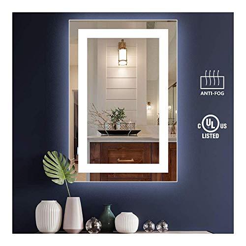 KIVA RHYME 24x36inch Bathroom Vanity Mirror, Wall-Mounted Mirror with High Lumen CRI>90 - Vanity Mounted Mirrors Bathroom