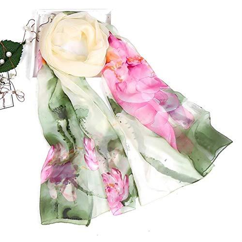 elegante stampato H leggero Slim donna Autunno Aimee7 lunghe Sciarpa chic sciarpe Lotus Rq0gIIBw