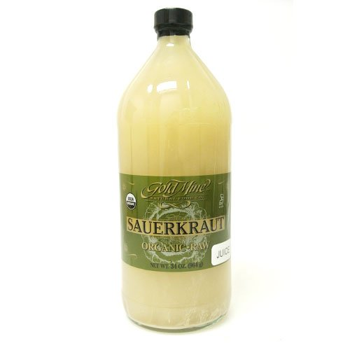 GOLD MINE ORGANIC RAW SAUERKRAUT JUICE 32 OZ