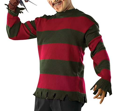 Rubie's Men's Nightmare On Elm St Deluxe Adult Freddy Sweater, Multicolor, Standard - Adult Freddy Sweater