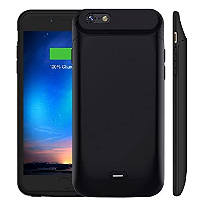 iPhone 6 6S Battery Case [5000mAh], MAXBEAR Rechargeable External Battery Portable Enhance Extended Power Charger Protective Charging Case for iPhone 6 6S (4.7 Inch)-Black