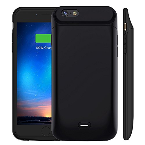 iPhone 6 6S Battery Case [5000mAh], MAXBEAR Rechargeable External Battery Portable Enhance Extended Power Charger Protective Charging Case for iPhone 6 6S (4.7 Inch)-Black by MAXBEAR